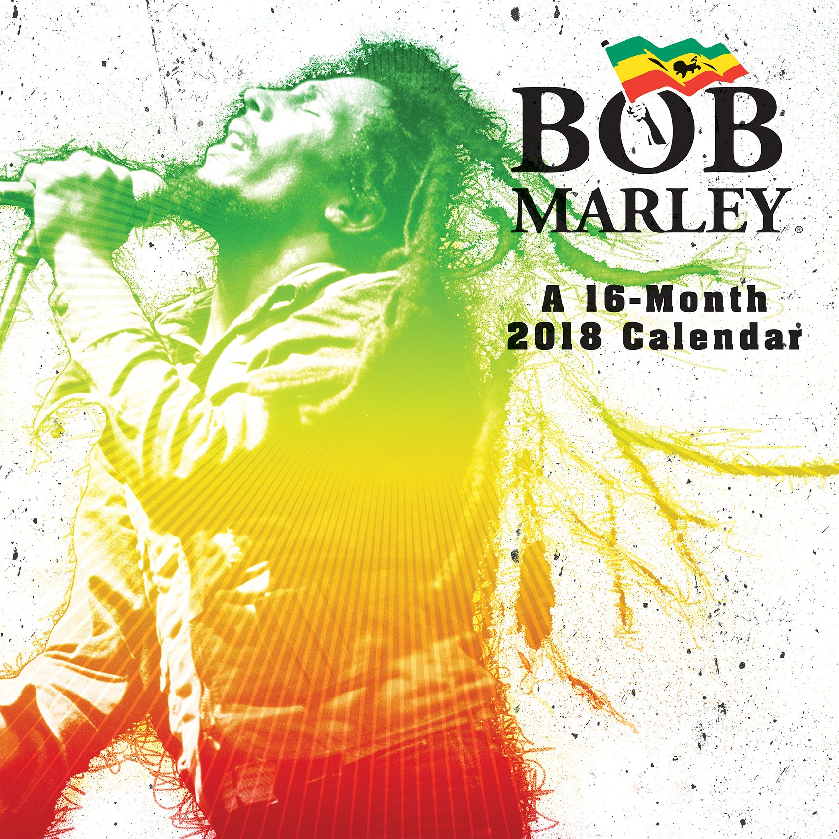 bob marley 2018 wall calendar trends international 9781438852638 amazoncom books