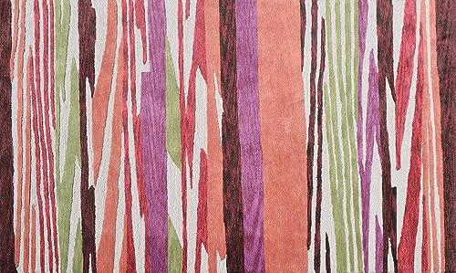 The Rug Market Rug, 7.6 x 9.6 , Orange Green Brown Purple