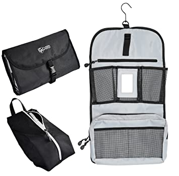 Sleek Hanging Toiletry Bag + Shoe Cover by CasFer  Portable Organizer for  Cosmetics, Makeup ff9f6e12ec