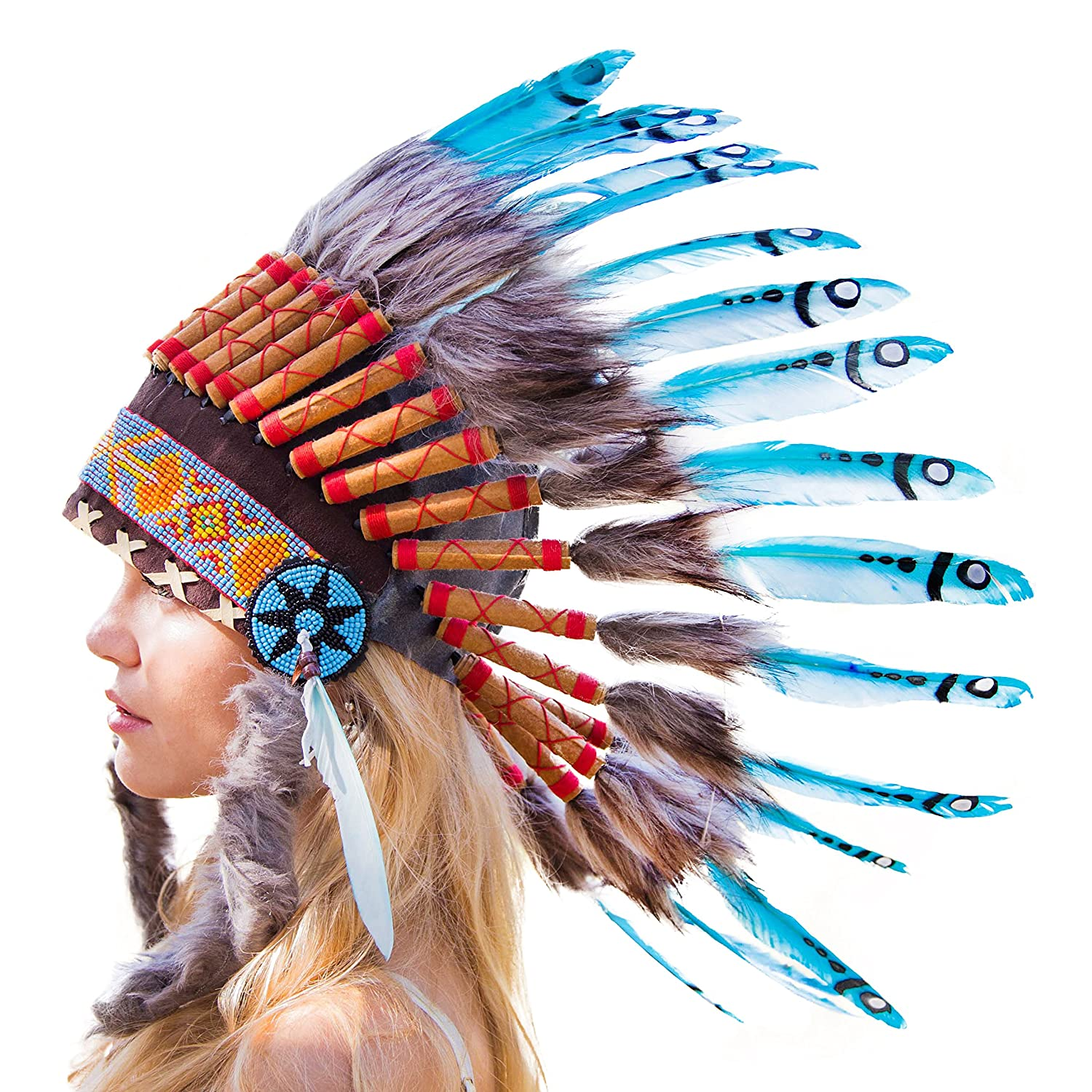Amazon Novum Crafts Feather Headdress