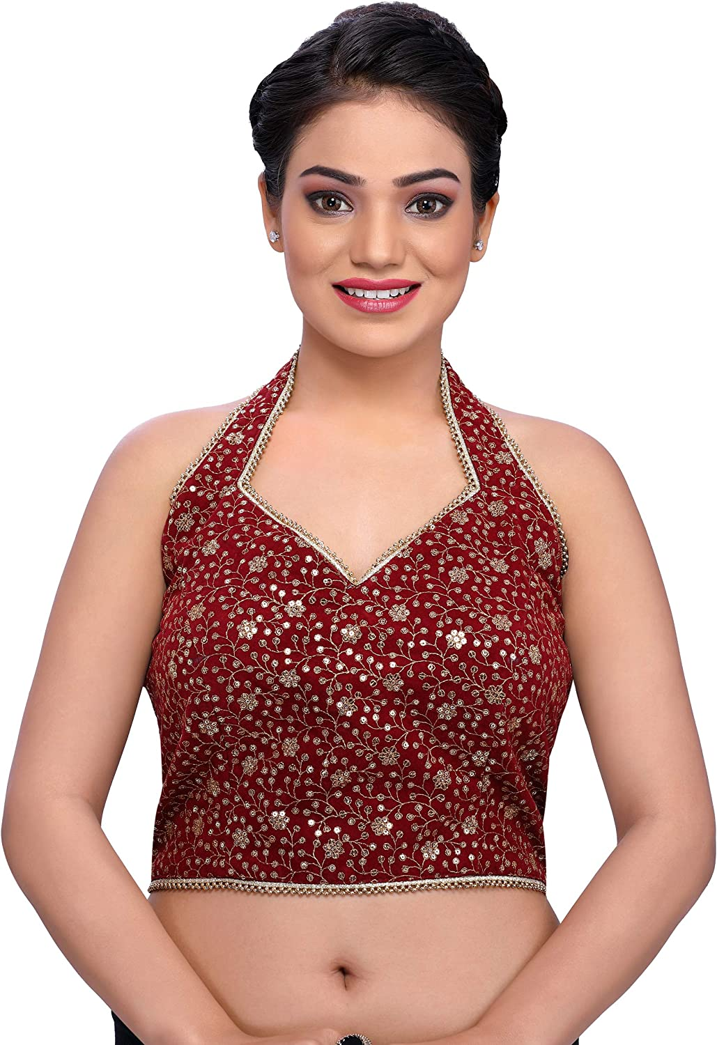 Free Shipping Designer Front Tie Pattern Wedding Embroidery Work Readymade Party Wear Stitched Blouse Sari Top New Banglori Silk For Women