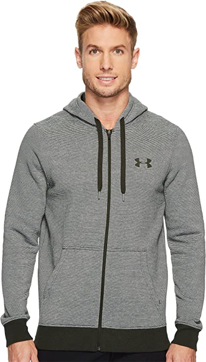 cbf91f599af8 Under Armour Men s Rival EOE Fitted Full Zip Artillery Green Artillery  Green Artillery Green