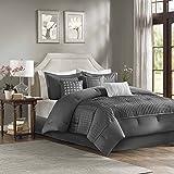 Madison Park Trinity Comforter Set, Queen, Grey