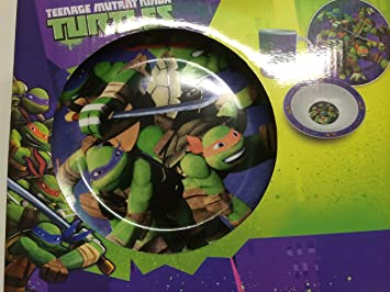 Set de desayuno 3 piezas, diseño de Tortugas Ninja: Amazon ...