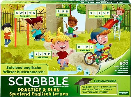 Mattel Games Scrabble Practice and Play, Juego de Mesa Infantil Educativo (Mattel FTG51): Amazon.es: Juguetes y juegos