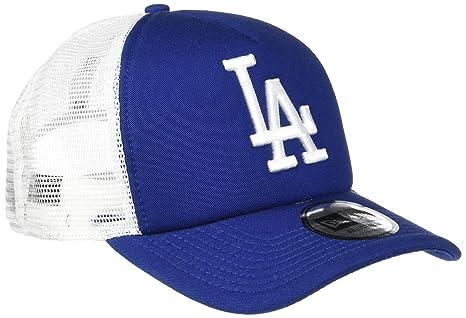 16ed34ff65081 New Era LA Dodgers Clean A Frame Trucker Cap - Blue  Amazon.ca ...