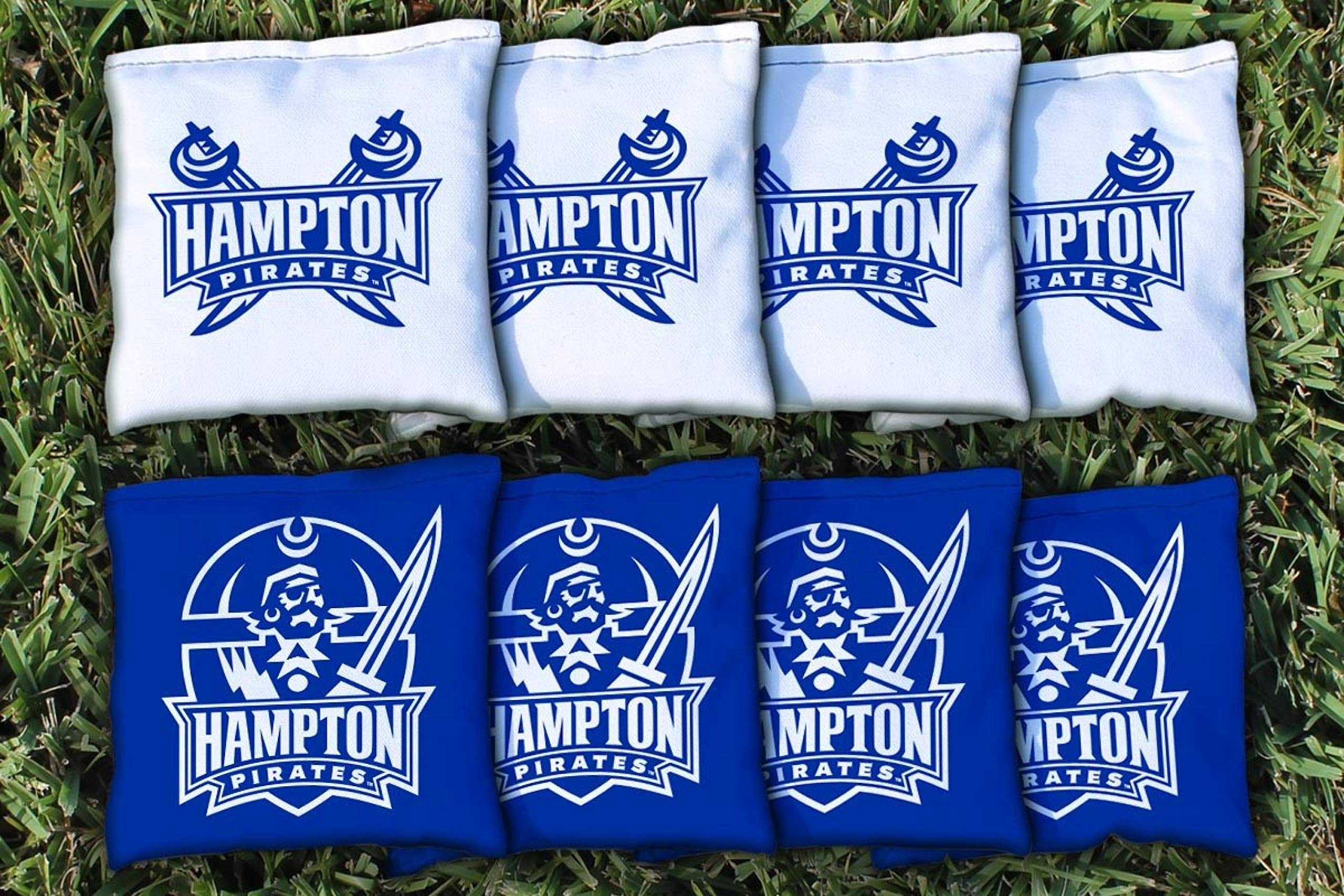 Victory Tailgate NCAA Collegiate Regulation Cornhole Game Bag Set (8 Bags Included, Corn-Filled) - Hampton University Pirates by Victory Tailgate