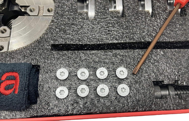 Nova 23262 Premier Pro-Tek Supernova 2 Chuck Kit with Pro-Tek 2 Jaw Set for Shopsmith, etc /& accessories Woodworm Screw bundled with Nova ISNS 5//8 Plainbore Adapter