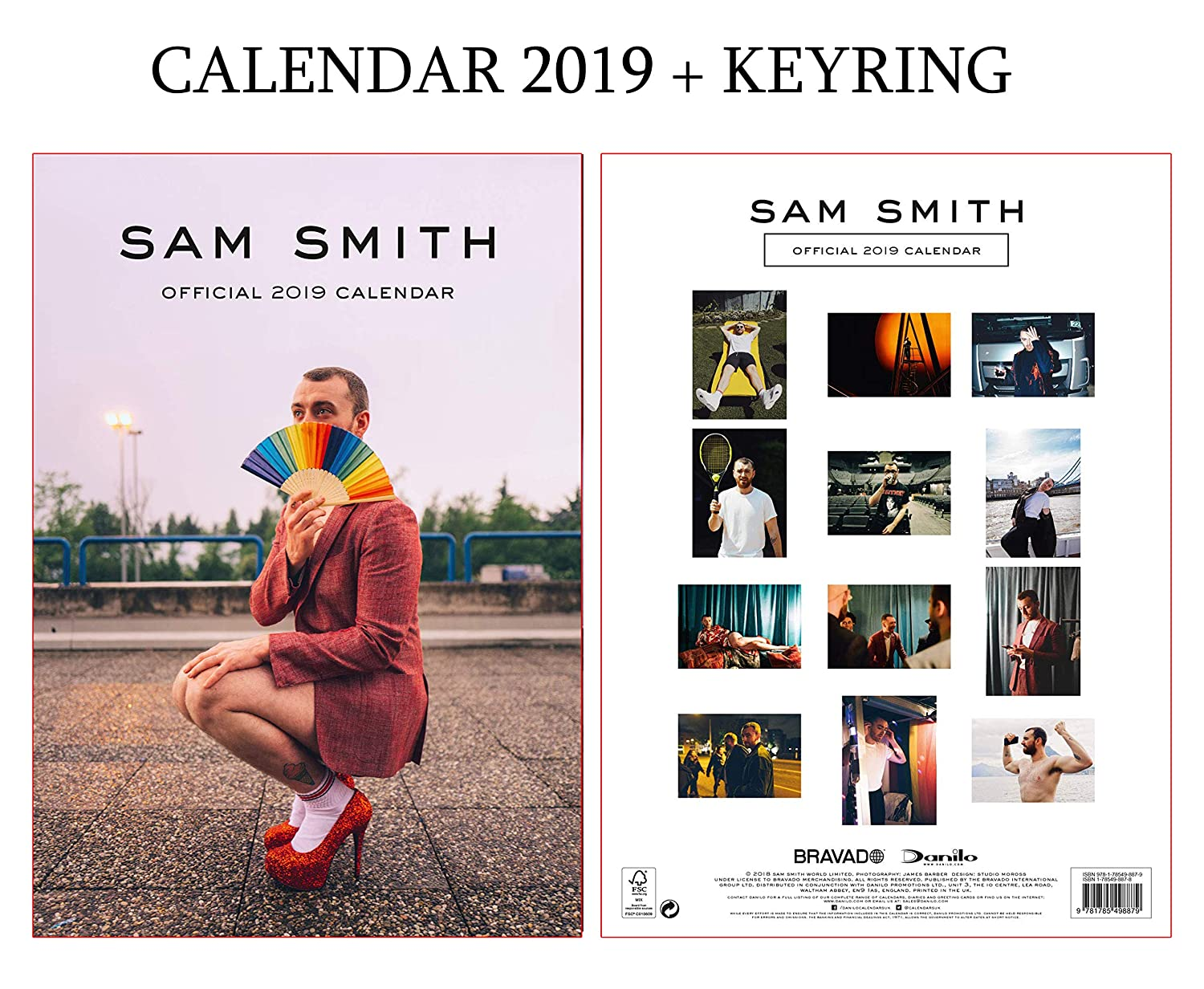 SAM Smith Official Calendar 2019 Including SAM Smith Keyring giftscity