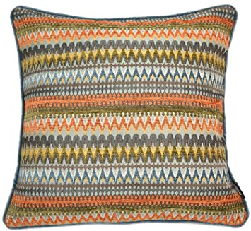 Amazing Mcalister Textiles Curitiba Pillow Cover Orange Teal Tribal Abstract Design Scatter Decorative Throw Seasonal Cushion Sham Size 24 X 24 Inches Theyellowbook Wood Chair Design Ideas Theyellowbookinfo