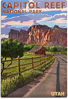 product image for Lantern Press Capitol Reef National Park, Utah - Barn View 79951 (6x9 Aluminum Wall Sign, Wall Decor Ready to Hang)