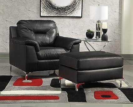 Fine Amazon Com Tensas Contemporary Black Color Faux Leather Beatyapartments Chair Design Images Beatyapartmentscom