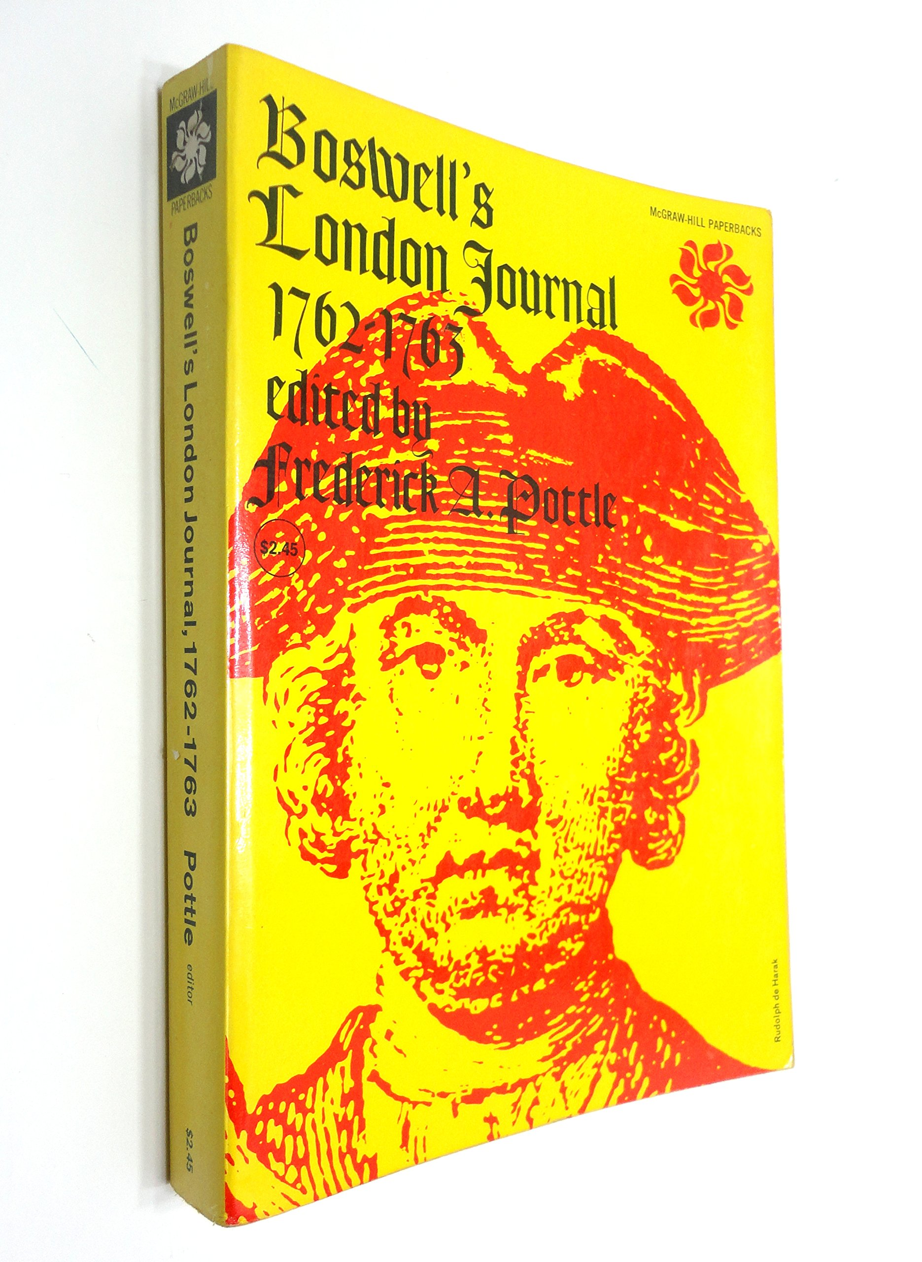 Boswell's London Journal 1762-1763, pb, 1950: James; Pottle, Frederick A.  (editor) Boswell: Amazon.com: Books