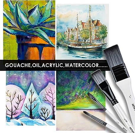 3 Stücke Aquarell Mischpalette für Gouache Öl Acryl Malerei Kunst