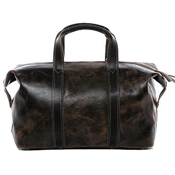 BACCINI® Bolsa de Viaje tamaño Grande Leon Bolso de Deporte Maletín Tipo Weekender Piel marrón: Amazon.es: Equipaje