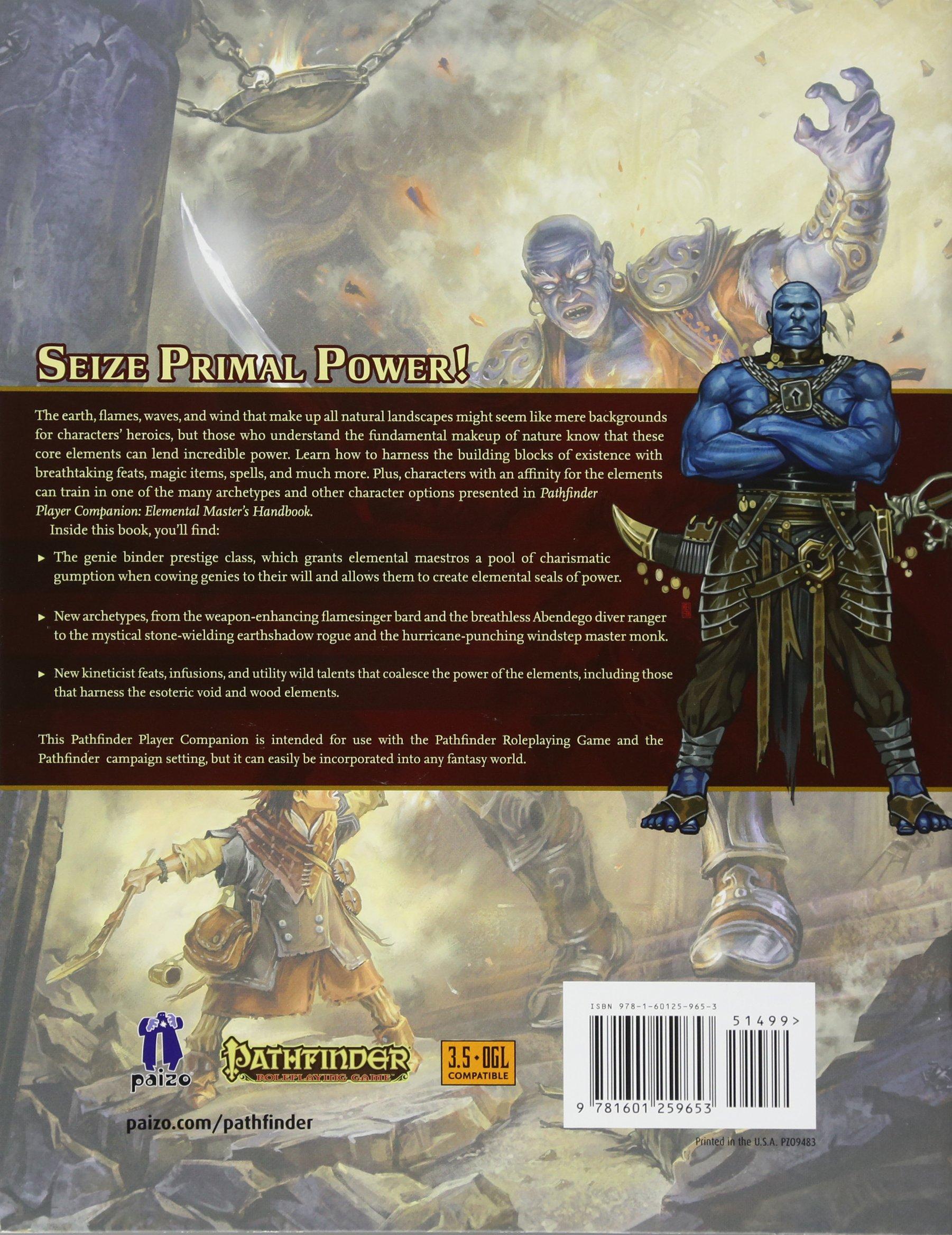 Pathfinder Player Companion: Elemental Master's Handbook: Paizo