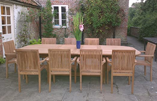 Il Gigante Tavoli Da Giardino.Direct Teak Grande In Teak Set Mobili Da Giardino In Legno Tavolo