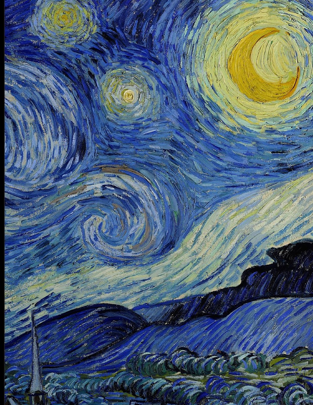 Notebook: Large Journal with Half Blank, Half College Ruled Paper, with Van Gogh's Starry Night; 8.5x11 Notebook, Use as a Journal or Diary or as a Gift for Men, Women, Boys, or Girls ebook