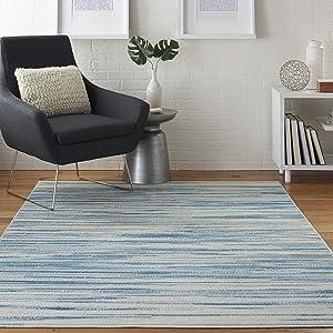 Nourison Jubilant Modern Coastal Blue Area Rug 4' x 6