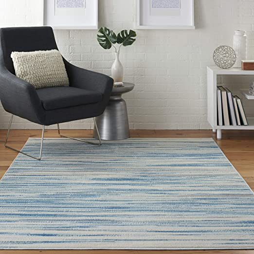 Amazon Com Nourison Jubilant Modern Coastal Blue Area Rug 4 X 6 Furniture Decor