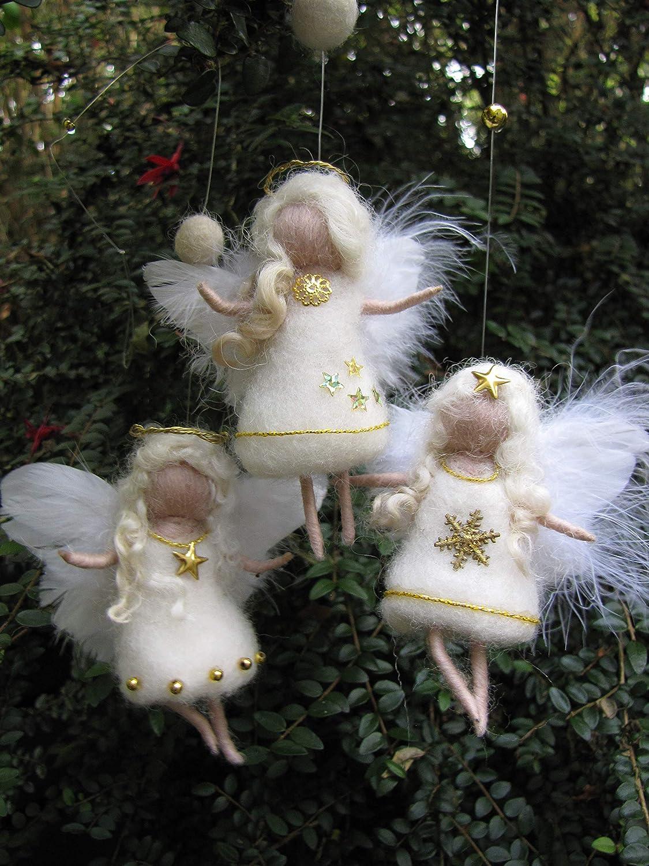 Waldorf Gefilzter Weihnachtsengel Wolle Wollfee toll f/ür Jahreszeitentisch Weihnachtsdeko Engel M/ärchenwolle