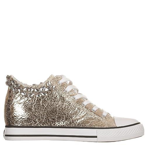 new arrival 58a72 3ed4d Woz? Sneakers con Zeppa Interna Oro, Ecopelle, 40: Amazon.it ...