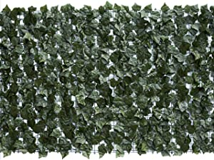 "Eden's Decor 120""X40"" 1 Pack Faux Ivy Leaf Privacy Trellis Fence Screen Artificial Hedge for Outdoor/Indoor Decoration"