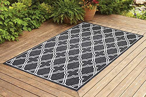 Benissimo Indoor Outdoor Rug Amulet Collection Non-Skid, Natural Sisal Woven and Jute Backing Area Carpet for Living Room, Bedroom, Kitchen, Entryway, Hallway, Patio, Farmhouse Decor 6×9, Gray