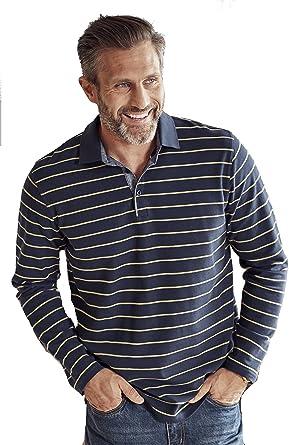355ac1761e1 Mens Super Quality Long Sleeve Navy Blue Smart Casual Collar Top Plus Sizes  2XL 6XL 7XL 8XL  Amazon.co.uk  Clothing