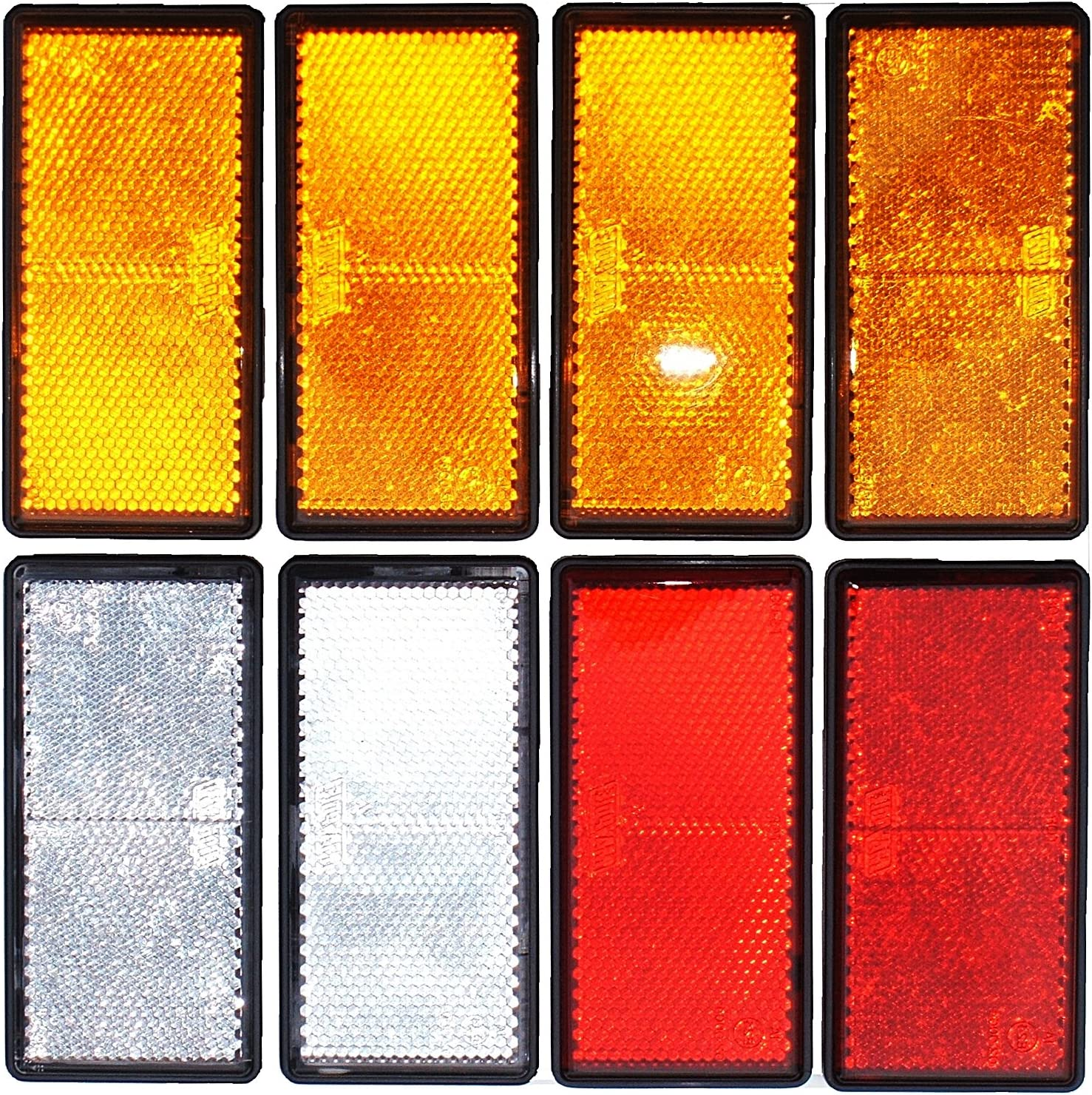 Wei/ß und Bernstein leisure MART LMX1625 Reflektoren Set aus Rot