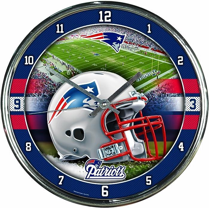 WinCraft NFL Chrome Clock