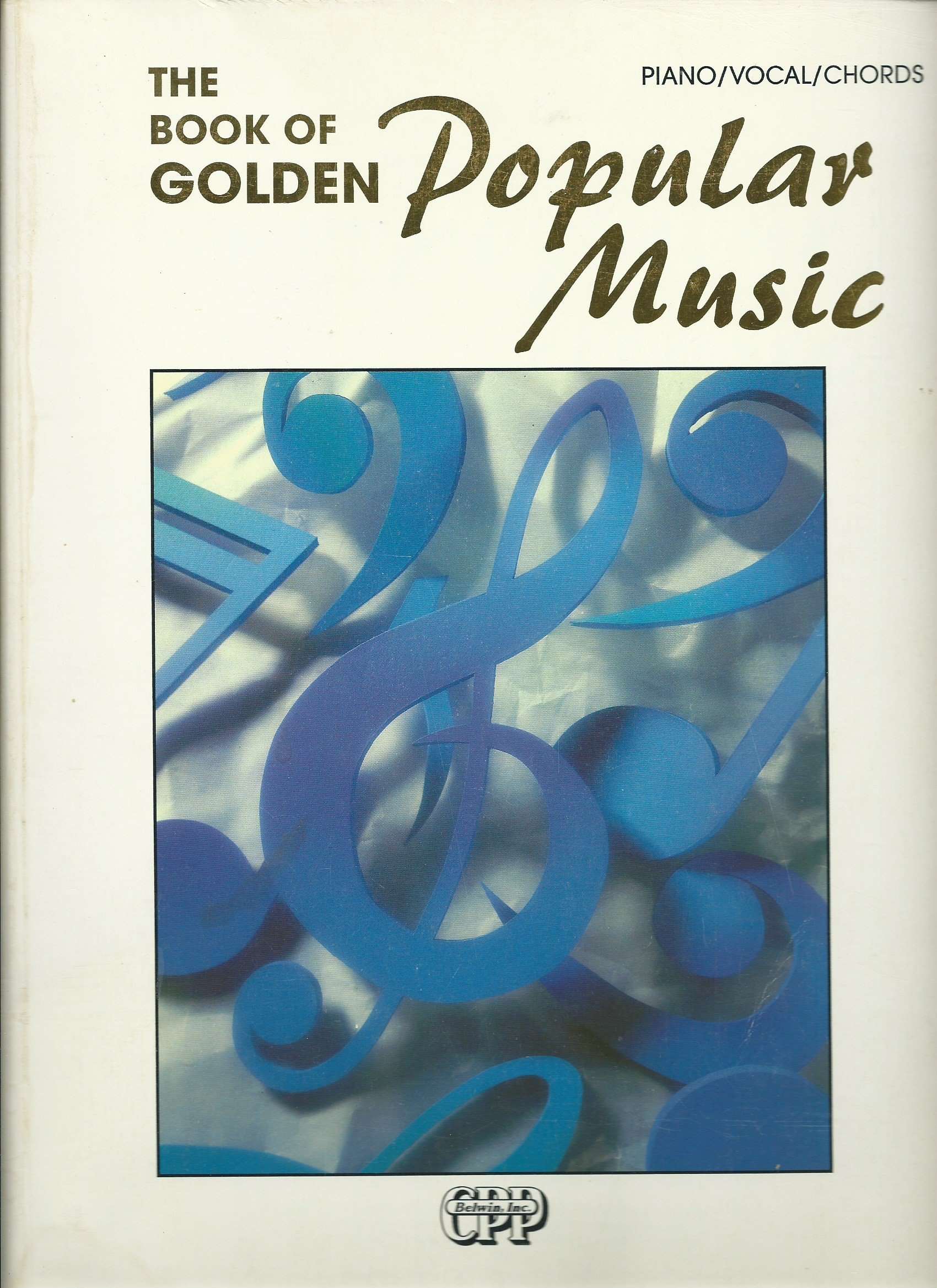 The Book Of Golden Popular Music Songbook Piano Vocal Guitar