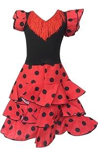 La Senorita Vestido Ropa Flamenco Niño Lujo Español Traje de ...