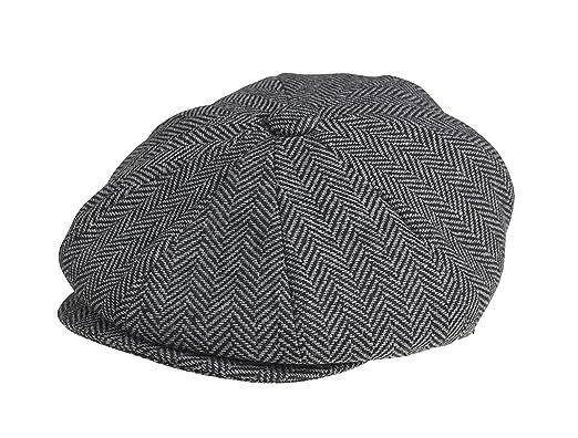 Peaky Blinders - Boina - para Hombre Gris Grey Herringbone Medium   Amazon.es  Ropa y accesorios c573190952c