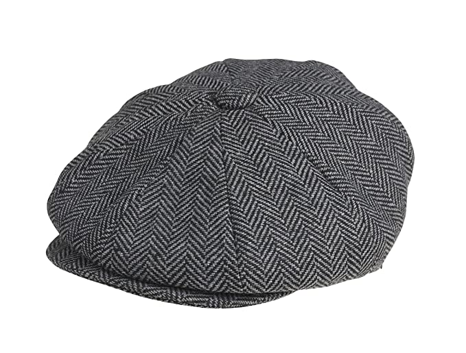 Peaky Blinders 8 Piece  Newsboy  Style Flat Cap -100% Wool (X Large (61cm) db70fdd34d3