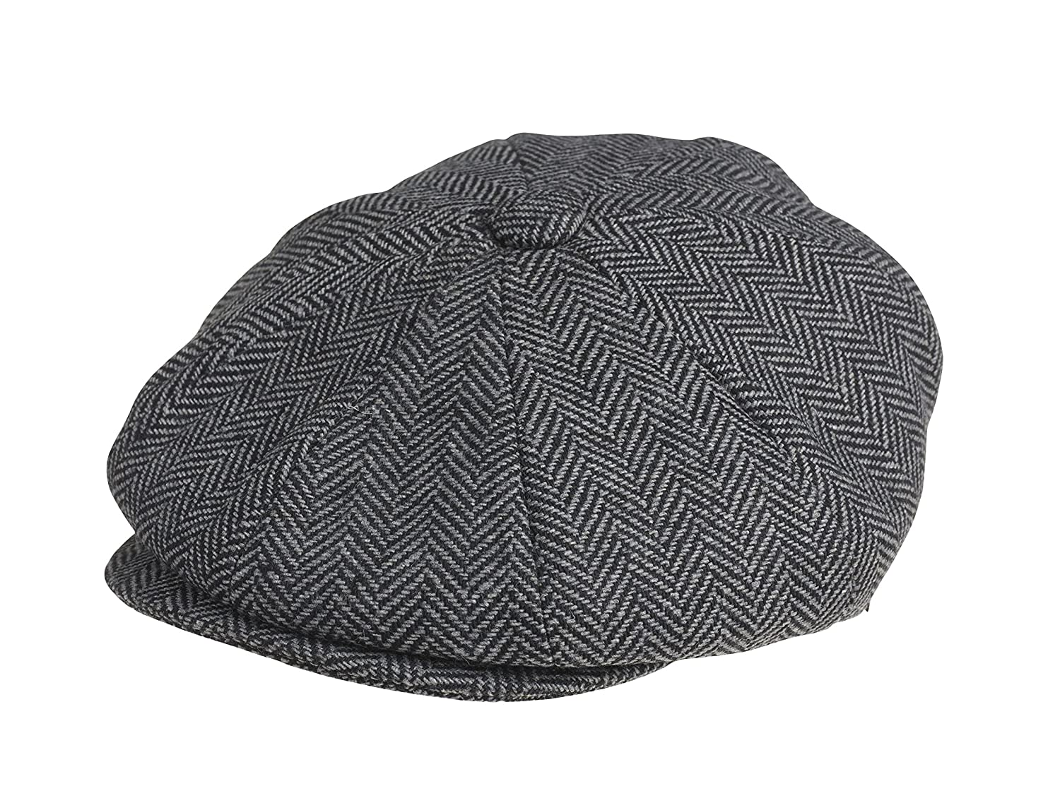 ... cheapest peaky blinders mens 8 piece newsboy style flat cap wool x  large 61 cm grey ... 1848bf61274d