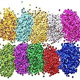 Paillettes Lustrini Coppa Sfusa Paillettes Sciolti per Fai Da Te Arte Produzione di Artigianato, 10 Colori, 6 mm, 100 Grammi