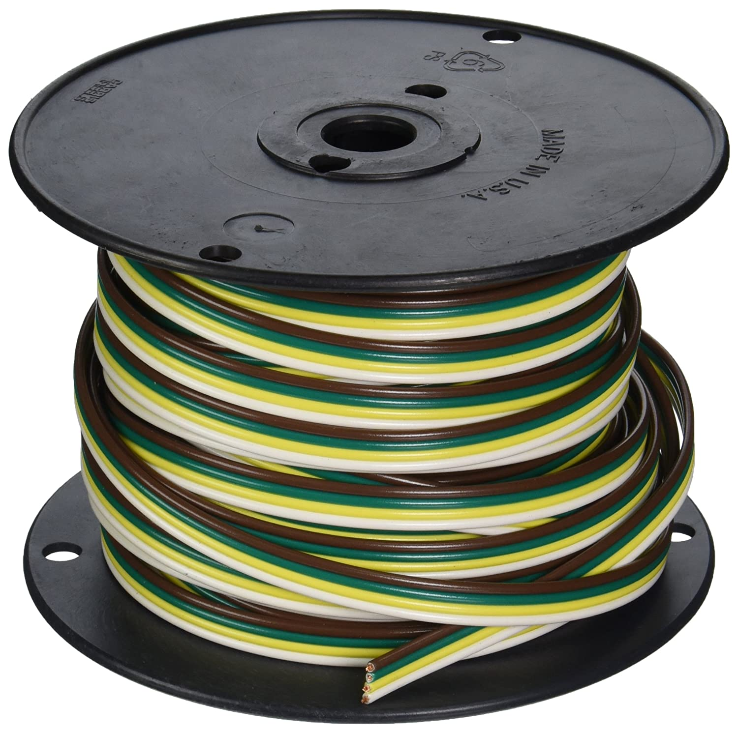 91BW3IQpB6L._SL1500_ coleman cable 51564 03 100 feet spool of trailer wire, 16 gauge 4 Plug in Trailer Wiring Kits at bakdesigns.co
