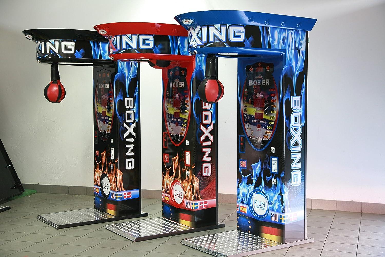 Máquina de boxeo con medidor de fuerza, de color azul, fabricada ...