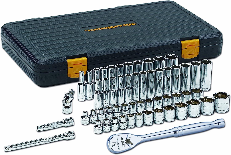 GEARWRENCH 80552 14 Piece 3//8-Inch Drive 6 Point Standard Metric Socket Set