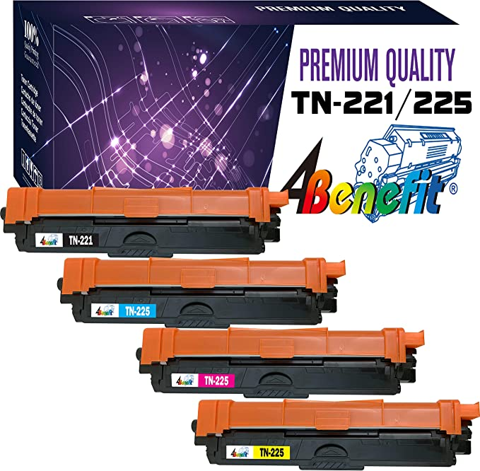 4 TN221BK 2 TN225C 2 TN225Y 2 TN225M for Brother DCP9020CDN HL3140CW HL3150CDN HL-170CDW MFC9130CW MFC9330CDW MFC9340CDW Printer ADE Products Compatible Replacement for 10 Brother TN225 TN221 Toners