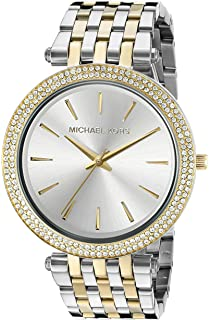 Michael Kors Darci Mid-Size Goldtone And Silvertone Stainless Steel  Three-Hand Glitz Watch 7a22ae1f76