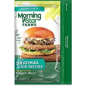 MorningStar Farms Original Chik Patties, 2.5 Ounce , 4 Count