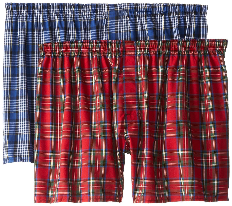 Hanes Ultimate Men's 2-Pack Ultimate Big Tartan Boxers,Assorted Hanes Men's Underwear 795BX2