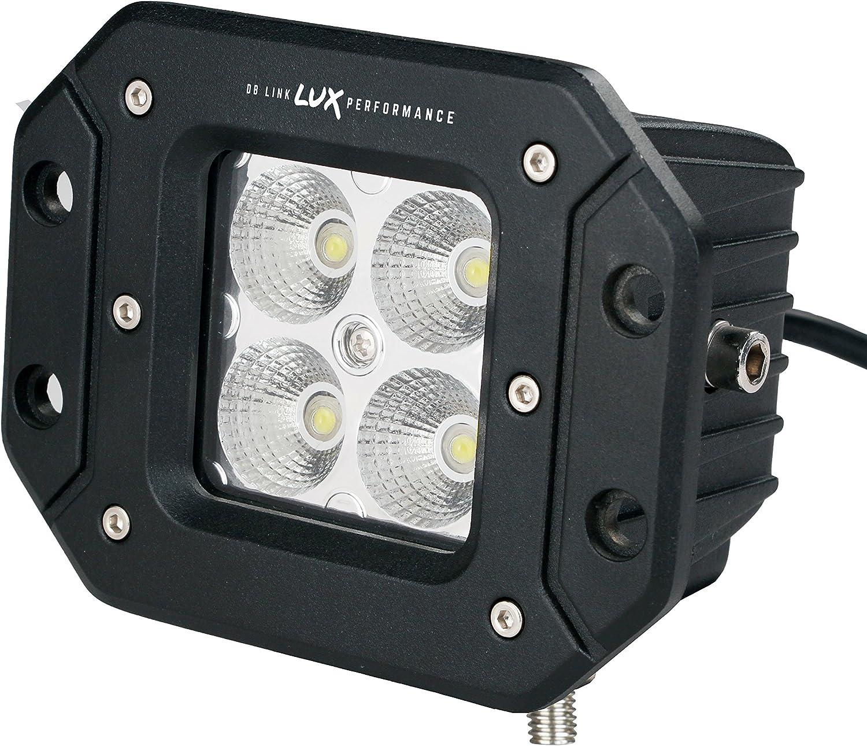 LUX Performance DBLXFW3.0F 3 Square Flush Mount LED Flood Work/
