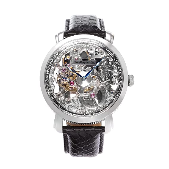 Lindberg & Sons para Hombre automático (Reloj mecánico) con skeletonized Reloj - Esqueleto -