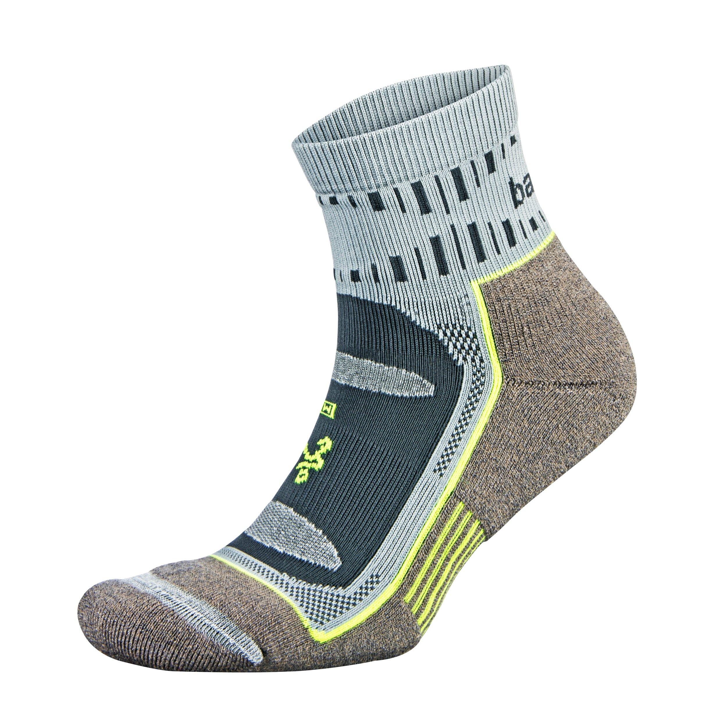 Balega Blister Resist Quarter Socks for Men and Women (1 Pair), Mink/Grey, Large