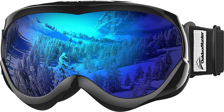 OutdoorMaster Niños Gafas de esquí - Casco Compatible con Gafas de Nieve para niños y niñas con 100% de protección UV