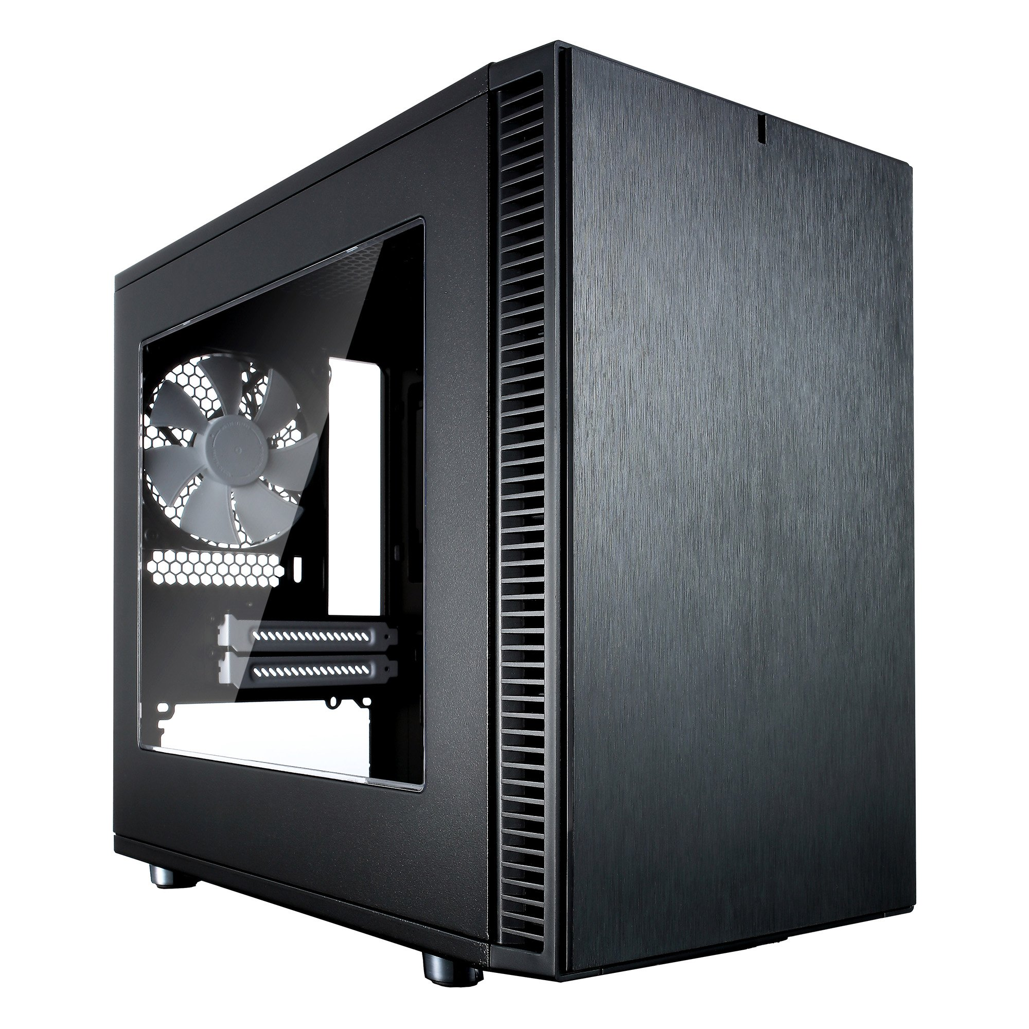 Fractal Design FD-CA-DEF-NANO-S-BK-W Define Nano S No Power Supply Mini-ITX Case Window - Black