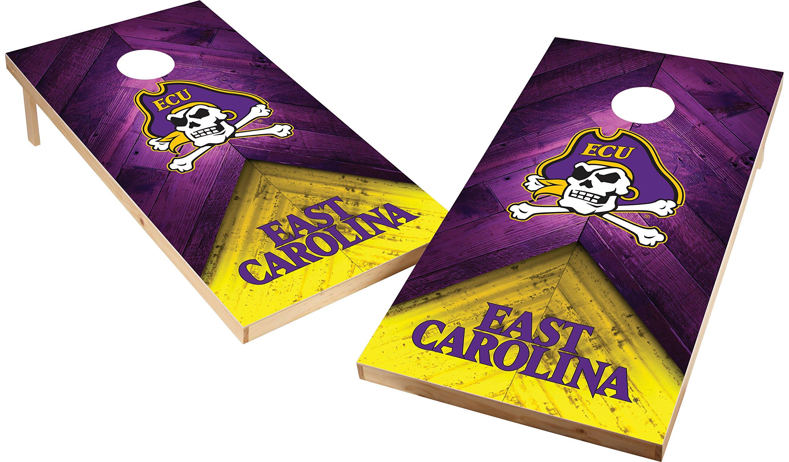 Wild Sports NCAA College 2'x4' East Carolina Pirates Cornhole Set